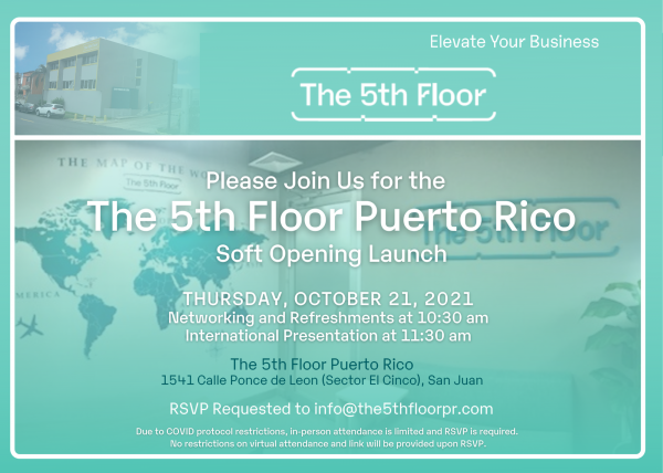 The 5th Floor Global Co-Working Space is Expanding to San Juan, Puerto Rico